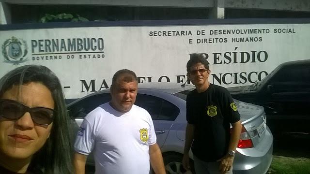 DIRETORIA DO SINDICATO PRESENTE NO COMPLEXO NA VISTORIA DA OEA