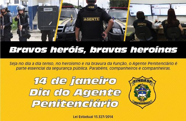 Photo of PARABÉNS AOS GUERREIROS AGENTES PENITENCIÁRIOS DE PERNAMBUCO. HOJE É SEU DIA