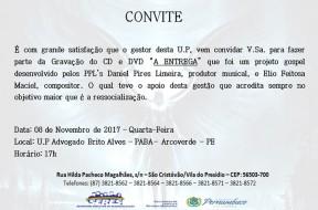 CONVITE - SANDRO