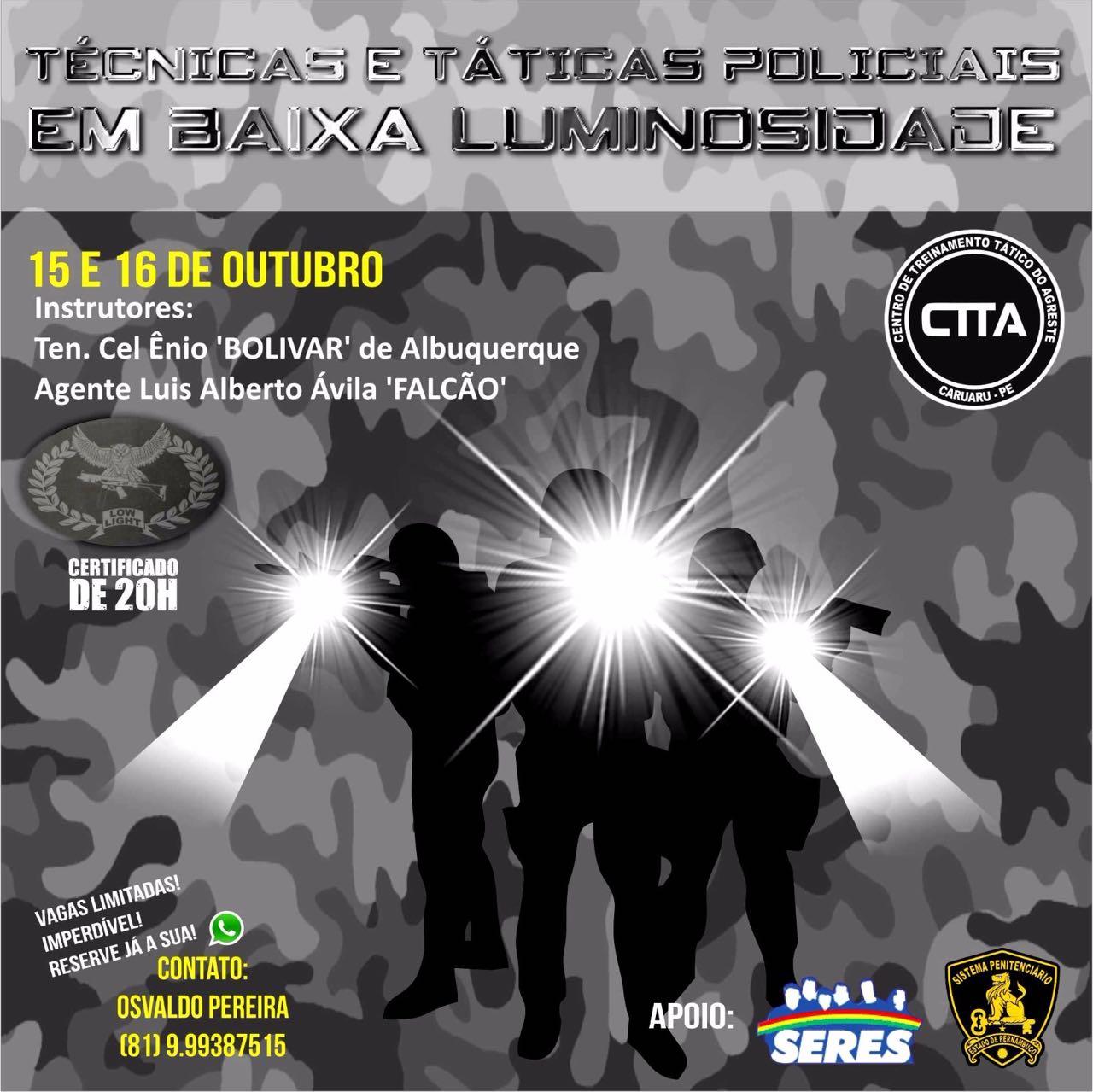 Photo of INSCRIÇÕES PARA CURSO NO CENTRO DE TREINAMENTO TÁTICO-CARUARU