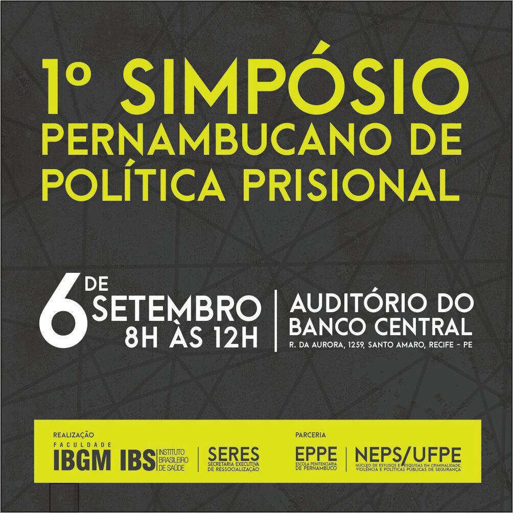 Photo of Simpósio de Política Prisional com inscrições abertas