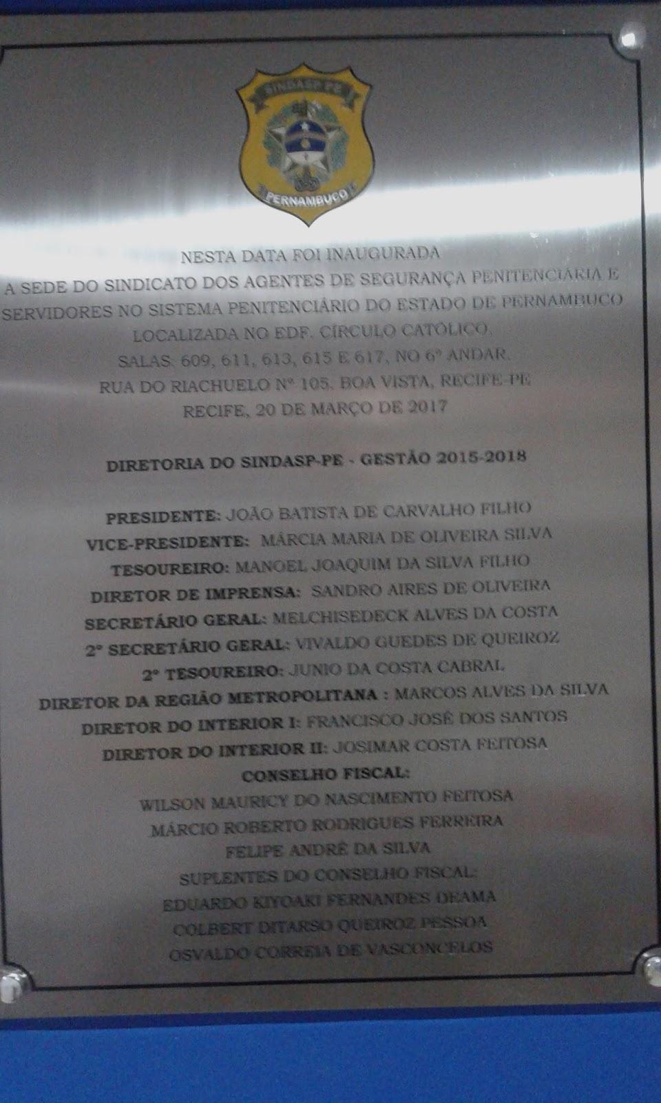 Photo of DIRETORIA DO SINDASP-PE INAUGUROU A NOVA SEDE DO SINDICATO NESTE MÊS E TEVE A PRESENÇA DA BASE