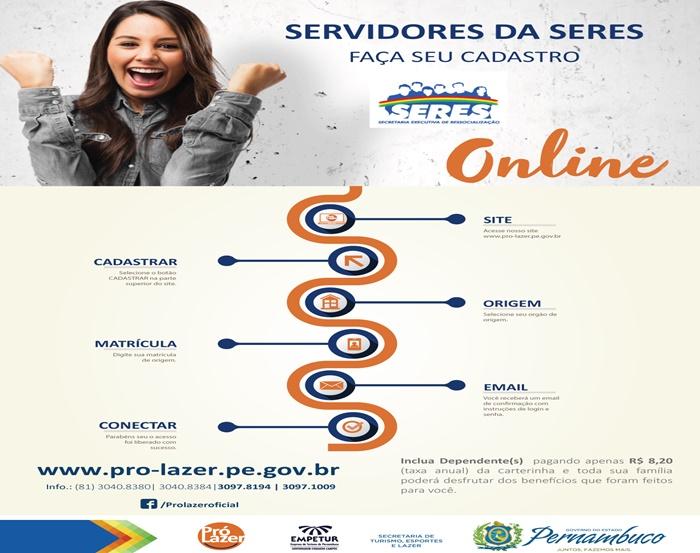 Photo of SERVIDORES DA SERES FAÇA SEU CADASTRO PARA O PRÓ LAZER