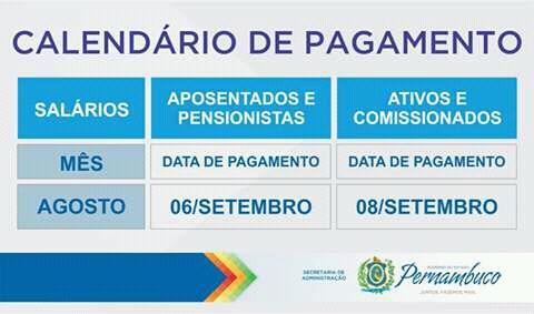 Photo of CALENDÁRIO DE PAGAMENTO DE SERVIDORES