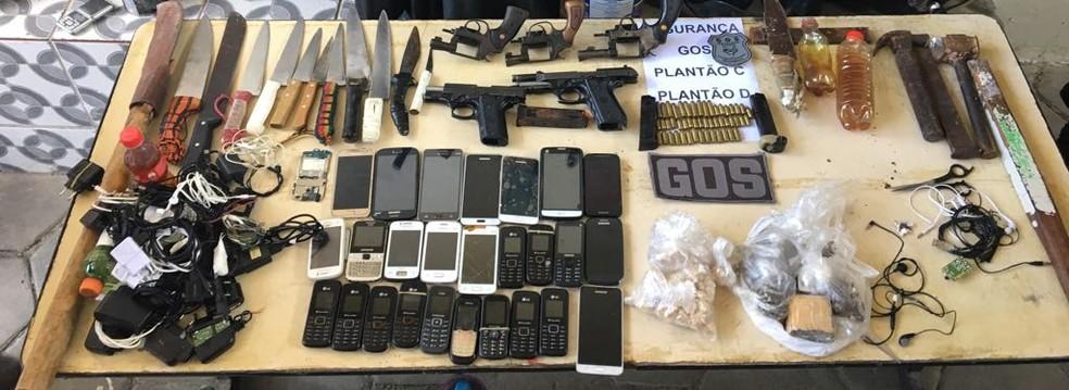Photo of NOTÍCIAS DO G1 Cinco armas de fogo, drogas e celulares são apreendidos em presídio no Recife