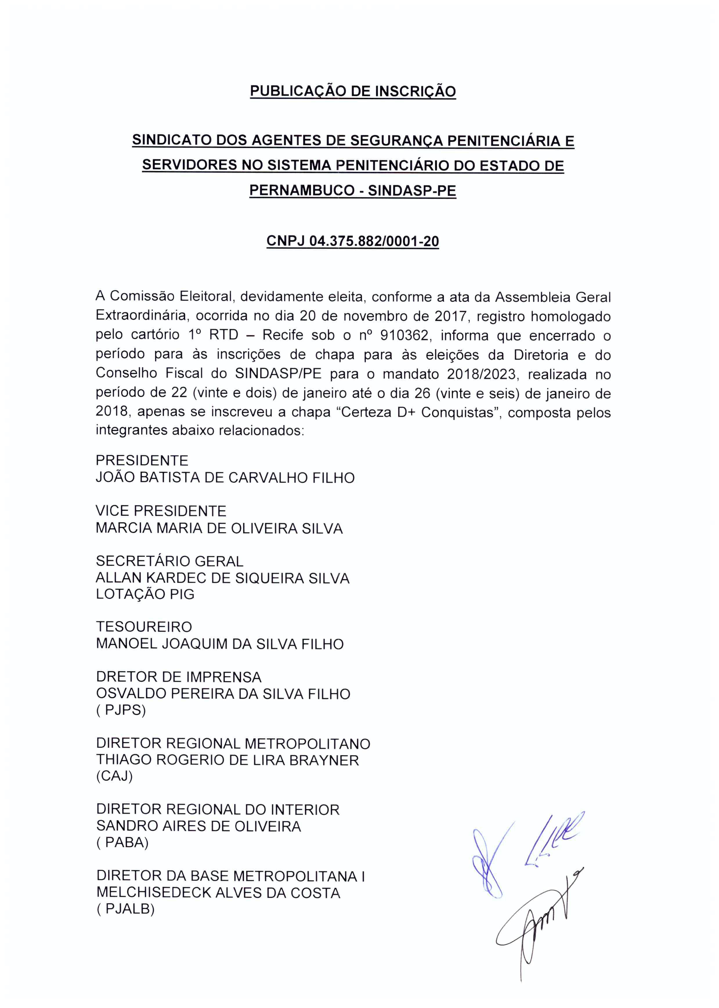 Photo of DECISÃO DA COMISSÃO ELEITORAL: INSCRIÇÕES DE CHAPAS