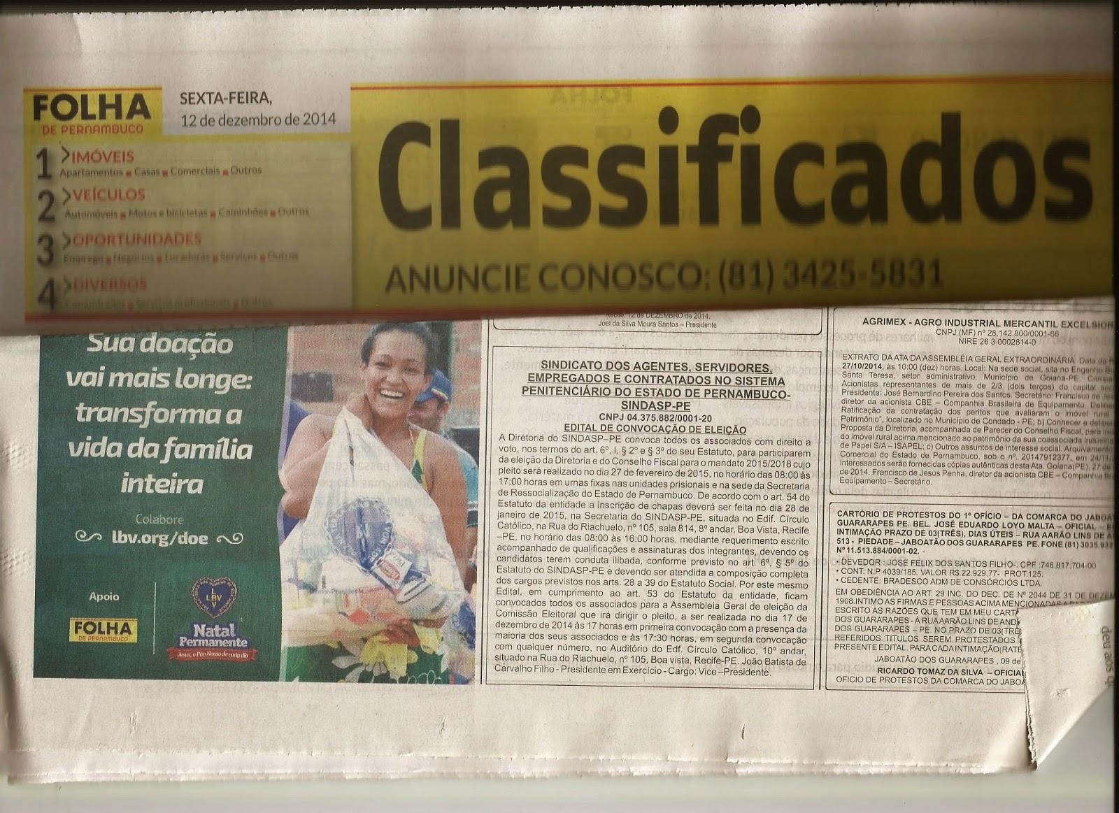 Photo of EDITAL DE CONVOCAÇÃO DE ELEIÇÃO